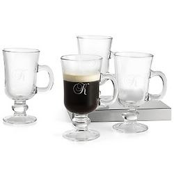 Irish Coffee Mugs with Monogram