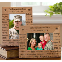 Personalized Military Dedication Picture Frame