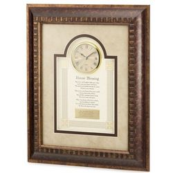 House Blessing with Framed Clock