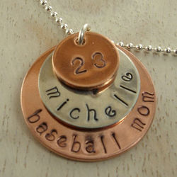 Sports Mom Personalized Hand Stamped Necklace