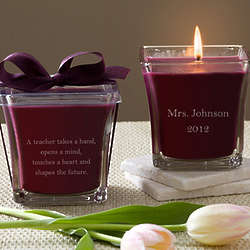 Personalized For My Teacher Mulberry Scented Spa Candle