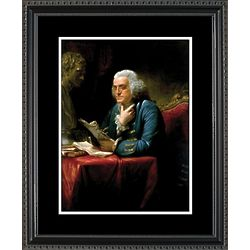 Ben Franklin Framed Portrait Print