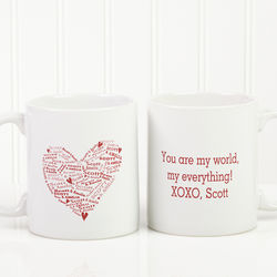 Heart of Love Personalized Romantic Coffee Mug