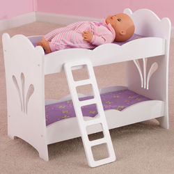 Wooden Lil Doll Bunk Bed with Ladder