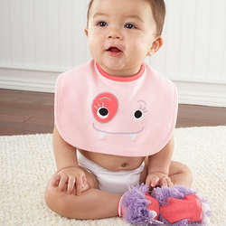 Pink Monster Bib and Booties Gift Set