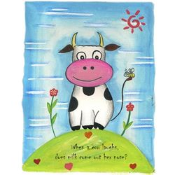 Personalized Funny Cow Art Print