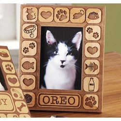 Personalized Cat Vertical Burnout Frame