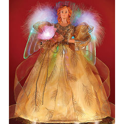 Fiber Optic Angel Tree Topper