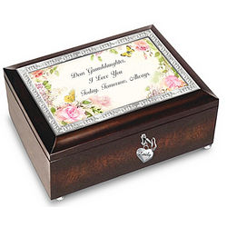 Granddaughter I Love You Always Personalized Music Box