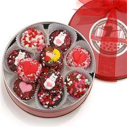 Chocolate Dipped and Decorated Oreos Valentine's Day Tin