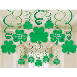 St. Patrick's Day Mega Value Swirl Decorations