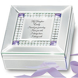 My Daughter I Love You Always Personalized Birthstone Music Box