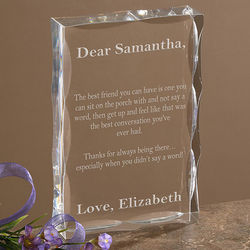 Personalized Lucite Block Plaque