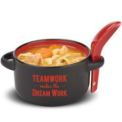 Teamwork Dream Work Soup Mug & Spoon