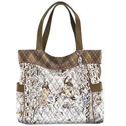 Guiding Spirits of the Wilderness Quilted Handbag