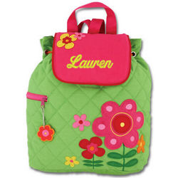 Personalized Quilted Flower Backpack
