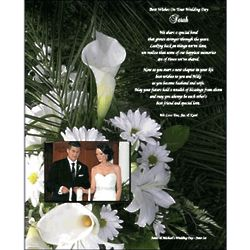 Personalized Wedding Poem Print for Sister