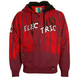 Electric Dark Forest Red Full Zip Hoodie