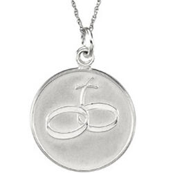 Loss of a Spouse Comfort Wear Pendant Necklace