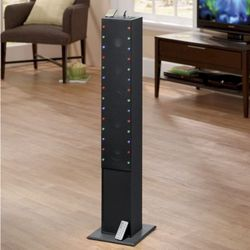 Tower Speaker with Multi-Colored Running Lights