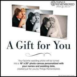 Wedding Photo to Canvas Gift Card