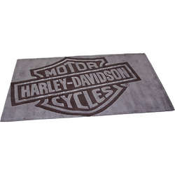 Large Harley-Davidson Bar and Shield Area Rug