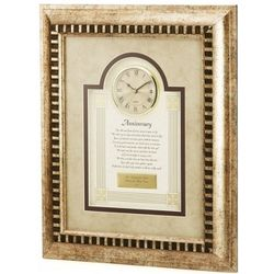Anniversary Poem with Framed Clock