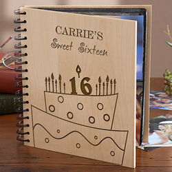 Personalized Birthday Cake Photo Album