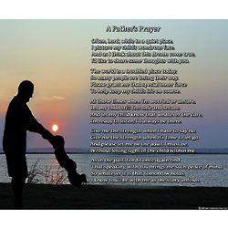 A Father's Prayer 8x10 Poem Print