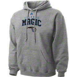 Orlando Magic Grey Arch Logo Fleece Hooded Sweatshirt