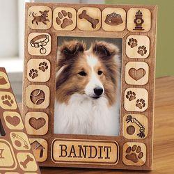 Personalized Dog Vertical Burnout Frame