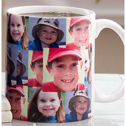 Three Photo Collage Personalized Coffee Mug