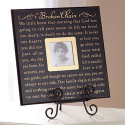 Broken Chain Poem Photo Frame and Easel Set