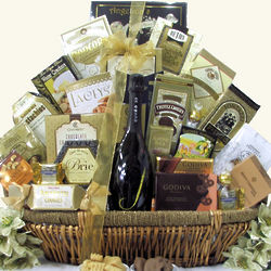 Grand Gourmet J Vineyard Cuvee 20 Brut Champagne Gift Basket