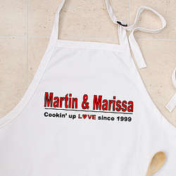 Cookin' Up Love Custom Apron