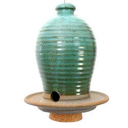 Stoneware Beehive Bird Feeder