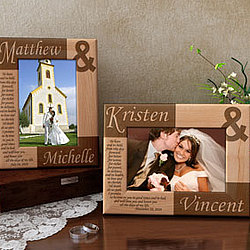 Personalized Wedding Vows Wooden Picture Frame