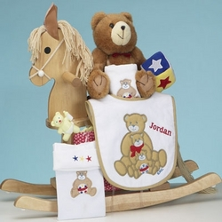 Personalized Maple Rocking Horse and Layette