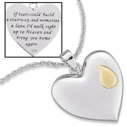 Sterling Silver Memorial Heart Pendant