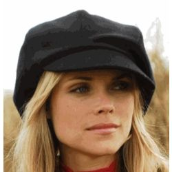 Wool Newsboy Cap for Women