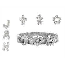 Personalized Diamond Charm Bracelet