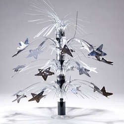Black Silver Star Cascade Centerpiece