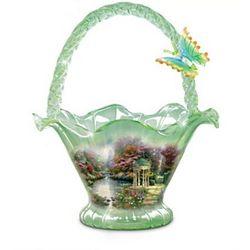 Thomas Kinkade Garden of Prayer Hand-Blown Glass Bowl