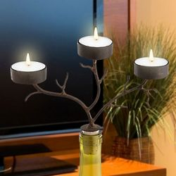 3 Tea Light Branches Wine Bottle Candelabra
