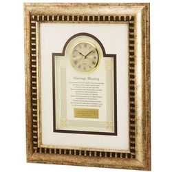 Marriage Blessing Frame Clock