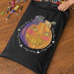 Personalized Pumpkin Trick Or Treak Bag for Girls