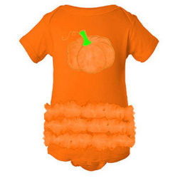 Pumpkin Applique Tutu Creeper
