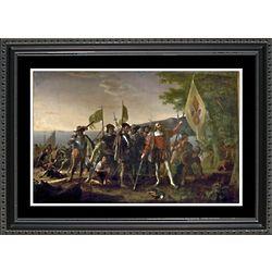 Landing of Columbus Framed Print
