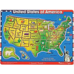 Kid's USA Map Sound Puzzle