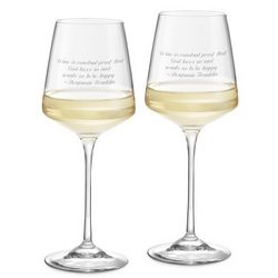 Aria White Wine Glasses Set